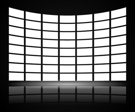 Video-Wand mit Verzerrung