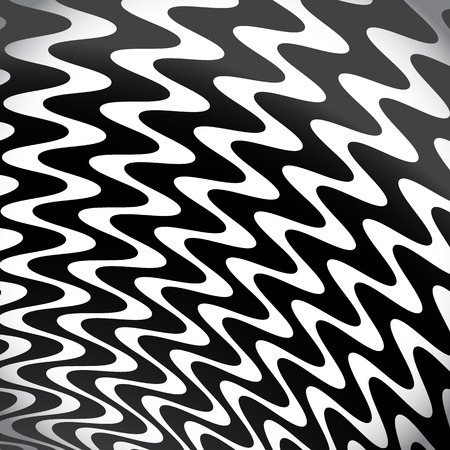 grayscale: Grayscale, Black and White Lines  Shapes Background with Strong Rippled, Wavy Effect