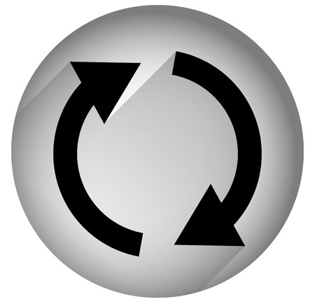 repetition: Spinning, rotating arrows in circle for rotation, circular motion, repetition or twist concepts. Gray version.