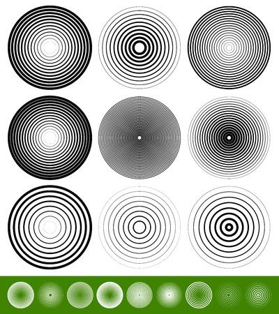 동심원 요소  배경. 추상적 인 원형 패턴.