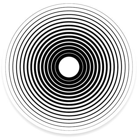 circulos concentricos: Elementos del círculo concéntrico  Fondos. Patrón abstracto del círculo. Vectores