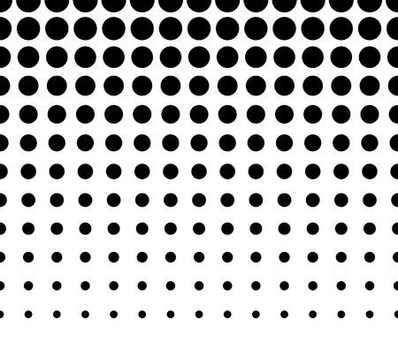 prepress: Horizontally Seamless Black and White Dotted Pattern