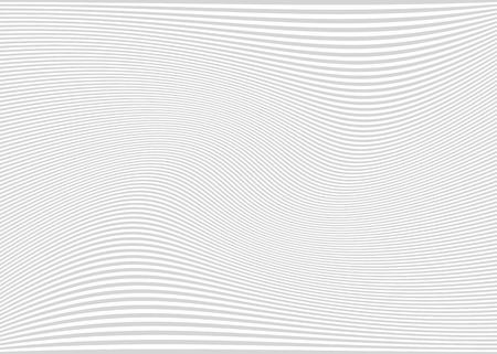 수평 라인  줄무늬 패턴 또는 물결 모양의 배경, 왜곡 효과 커브. , 변형 된 라인을 굽힘. 밝은 회색.