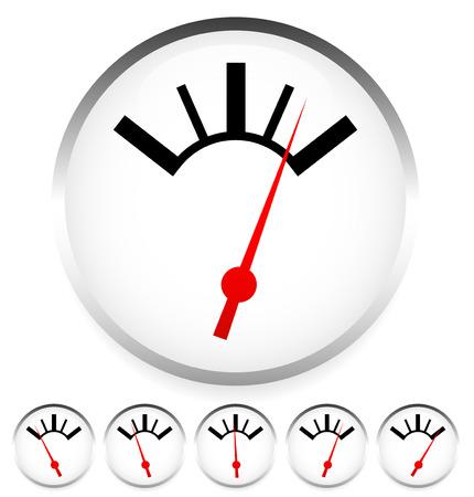 Generic dial, gauge, guage. Measurement, level indicators.