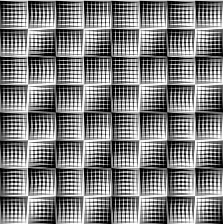 triangular eyes: Overlapping triangles seamless patterns. Editable vector background. Black and white abstract graphics Illustration