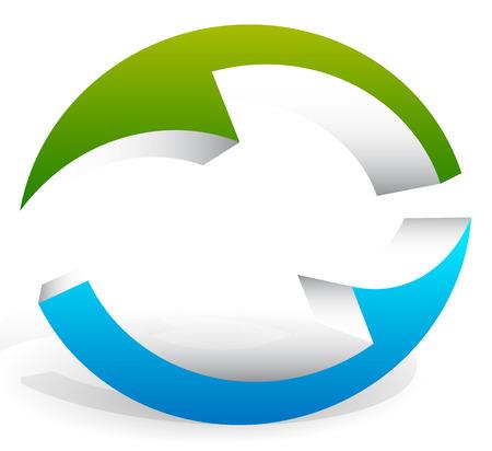 reviser: 3d circulaire, fl�ches de rotation de la mode ovale Illustration