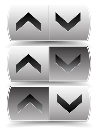 alignment: Hasta abajo flecha botones con presionado, empujado versiones. Para la alineaci�n vertical, aumento, disminuci�n, despl�cese conceptos.