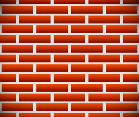 revetment: Seamless pattern of dark brickwork, brick wall. Repeatable. Construction, revetment, firewall pattern, texture. Vector graphics.