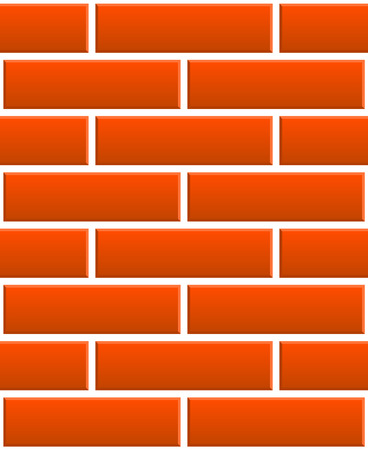 redbrick: Repeatable pattern of undamaged brick wall texture with regular pattern, 3d bevel effect for architecture, renovation, building, construction themes Illustration
