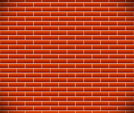 revetment: Seamless pattern of dark brickwork, brick wall. Repeatable. Construction, revetment, firewall pattern, texture. Eps10 Vector graphics.