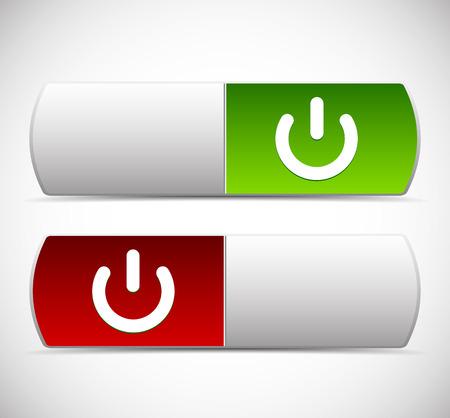 activacion: Elementos de la IU bot�n de encendido. Encender, apagar, apagar, temas de activaci�n.