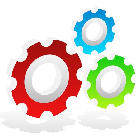 rack: Various gear wheel, rack wheel vector graphics. Mechanics, manufacturing, industrial or maintenance, rework, repair themes.