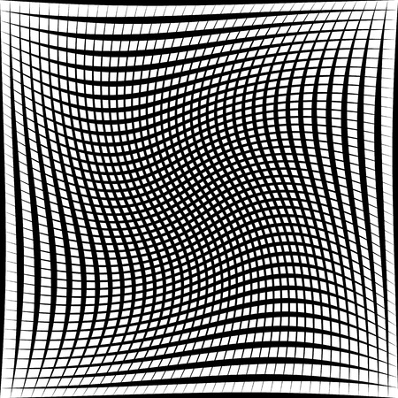 eyestrain: Black and white abstract grid, grating pattern