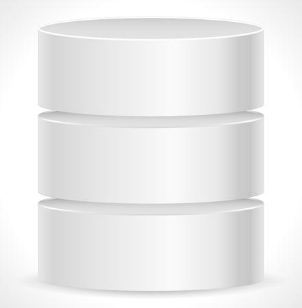databank: Metal Cylinder. Webhosting, Server, Mainframe Computer Concepts. Archive, Database, Hard Disk Drive, HDD Vector Icon