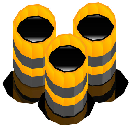 barell: Oil barrels with oil spill. vector render