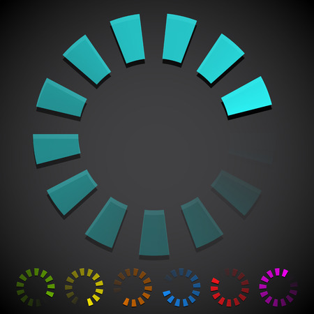 preloader: Round preloader, buffer shape, circular progress indicator Illustration