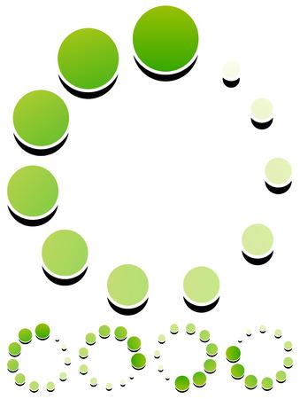 buffer: Round preloader, buffer shape, circular progress indicator Illustration