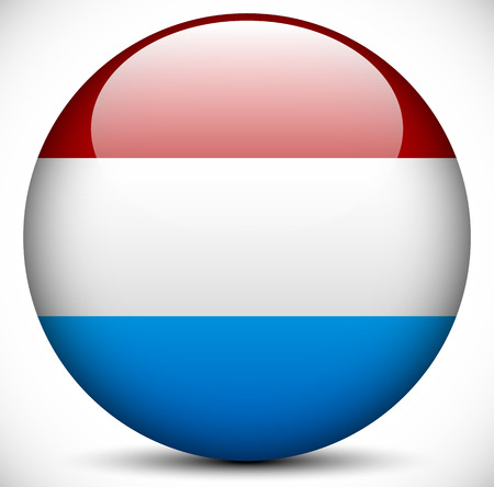 nederland: Round Icon with the Flag of Netherlands