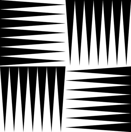 triangular eyes: Black and white pattern of edgy, pointed shapes. Repeatable background of triangle shapes. (Seamless) Illustration