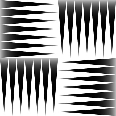 Black and white pattern of edgy, pointed shapes. Repeatable background of triangle shapes. (Seamless) Illustration