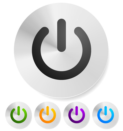 Power button, Power symbol vector graphics