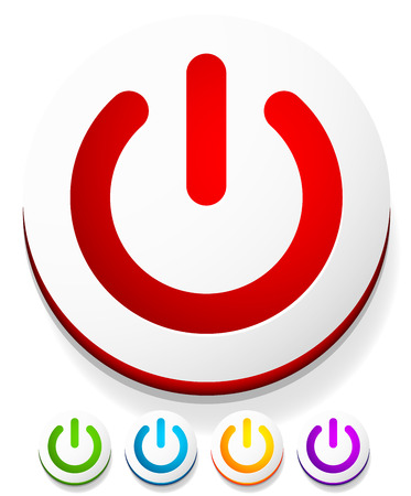 initiate: Power button, Power symbol vector graphics
