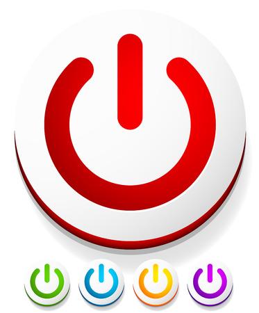 shut down: Power button, Power symbol vector graphics