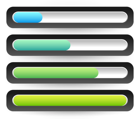 fullness: Horizontal Progress, Loading Bars. Meters, Level Indicators.