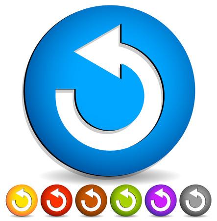 following: Arrow following a circle path, rotating circular arrow leftwards.