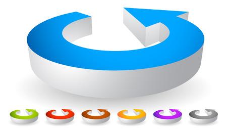 rotating: Arrow following a circle path, rotating circular arrow leftwards.