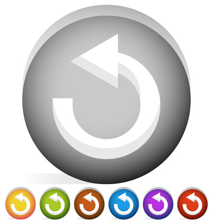 refurbish: Arrow following a circle path, rotating circular arrow leftwards.