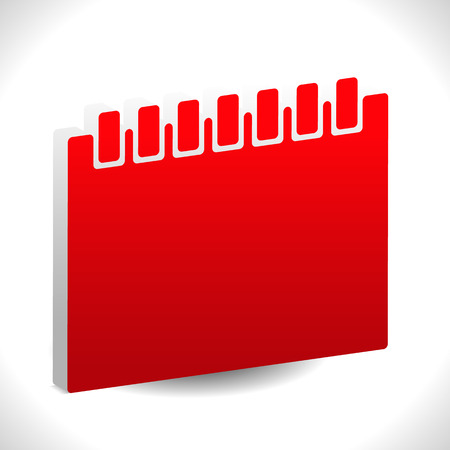 schedule appointment: Red calendar vector icon. Illustration for schedule, appointment or generic date related concepts.