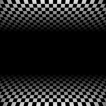fade: 3d Fading checkered planes with perspective. Fade effect with opacity mask, can be put on any background