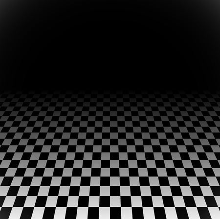 fade: 3d Fading checkered plane with perspective. Fade effect with opacity mask, can be put on any background