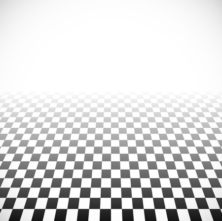 fading: 3d Fading checkered plane with perspective. Fade effect with opacity mask, can be put on any background