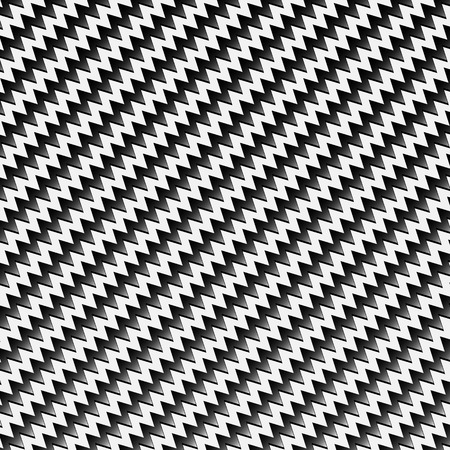Black and white stripes with zig zag effect