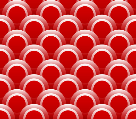overlapping: Overlapping circle shapes repeating pattern. Vector graphics.