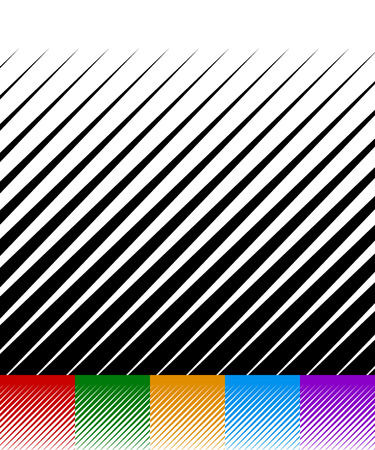 spiky: Abstract background, lines pattern. Set of 6 monochrome versions. Red, green, orange, blue and purple vector backgrounds with pointed, spiky geometry. Illustration