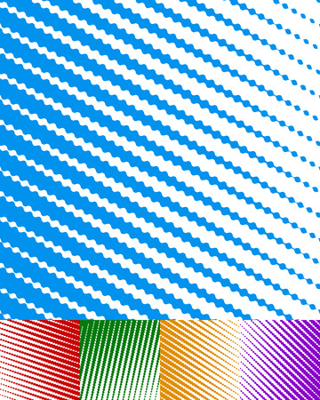 ripply: White billowy parallel stripes, lines background set Illustration