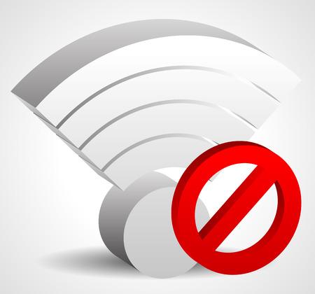 bad service: No signal, bad antenna concepts. Vector icon