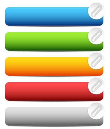 paper fastener: Paper clip, clip icon, element. Vector Illustration