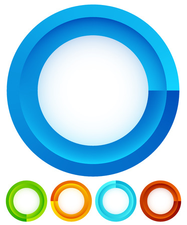 preloader: Circular, round design elements. Preloader, buffers shapes, progress indicators. Vector Illustration