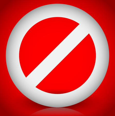 restrictive: Red prohibition, restriction - No entry sign. Vector Illustration