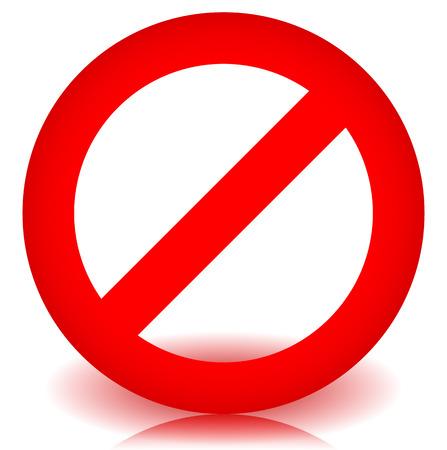 赤の禁止、制限 - 進入禁止の標識。ベクトル図