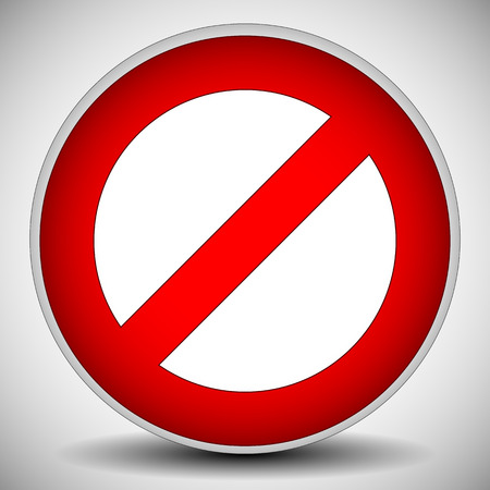 restriction: Red prohibition, restriction - No entry sign. Vector Illustration