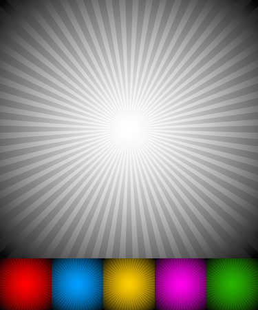 energy center: Radiating, converging lines, rays background. Known as starburst, sunburst background. Vector illustration.