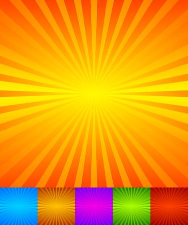 Uitstralen, convergerende lijnen, stralen achtergrond. Bekend als starburst, zonnestraal achtergrond. Vector illustratie. Stock Illustratie