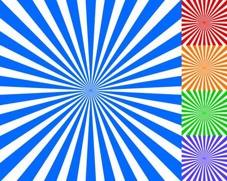 sunburst: Radiating, converging lines, rays background. Known as starburst, sunburst background. Vector illustration.