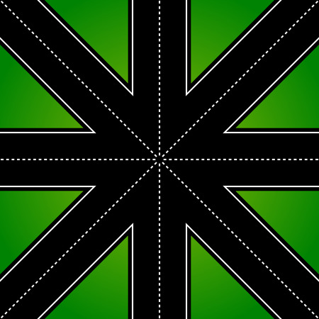 multidirectional: Road from above. Empty asphalt road. vector