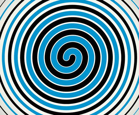 spiraling: Black-blue duotone spiral  element, background. Editable vector